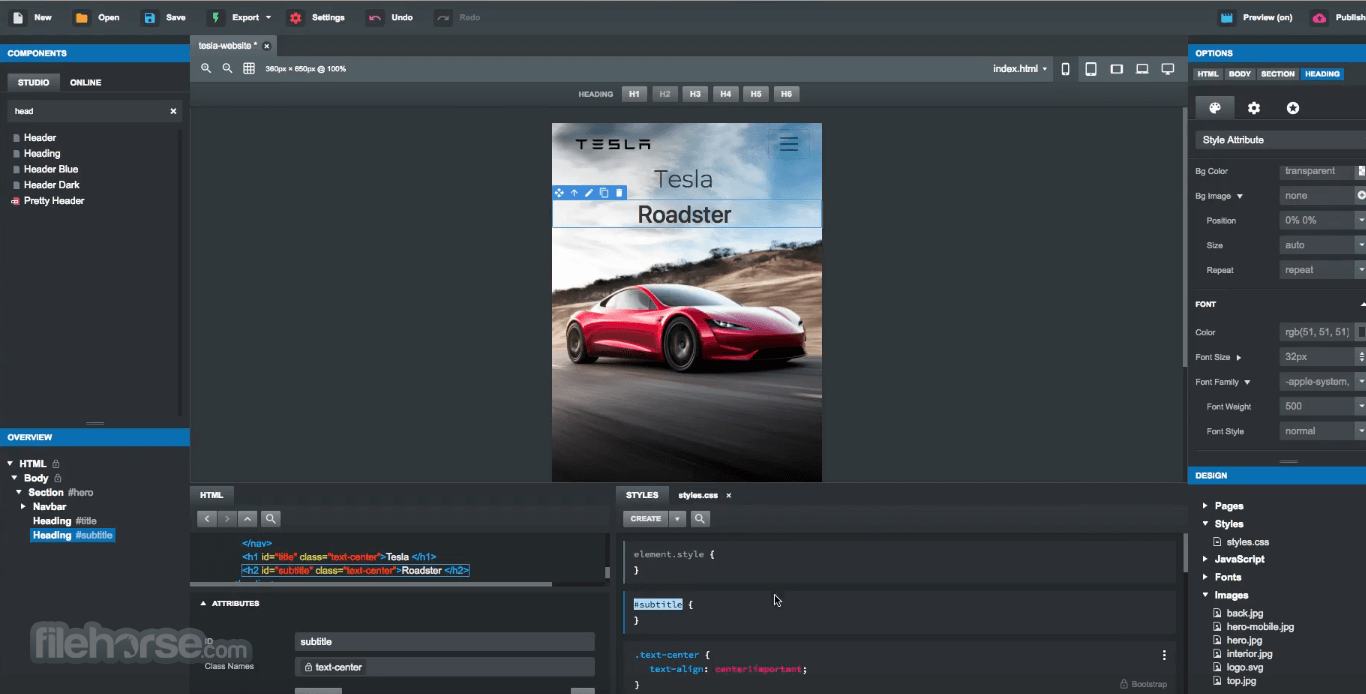 Bootstrap Studio 5.5.1 Screenshot 2