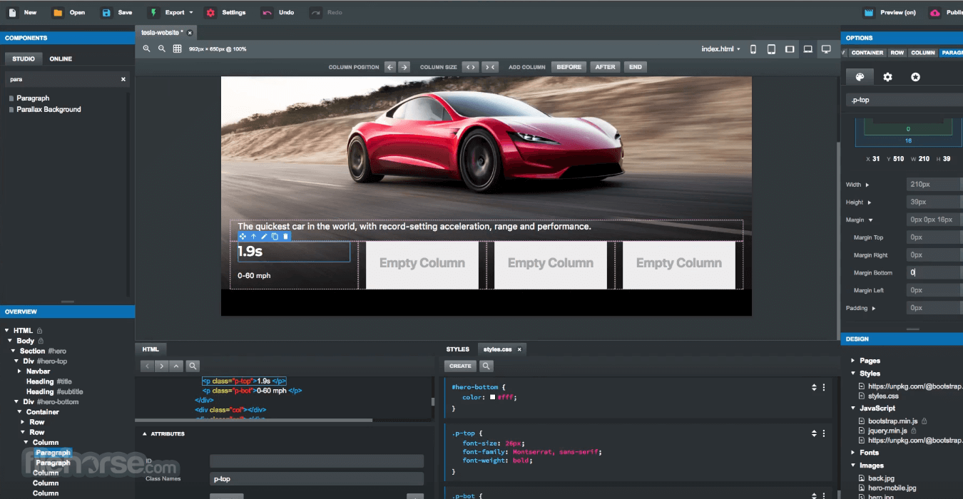 Bootstrap Studio 5.5.1 Screenshot 3