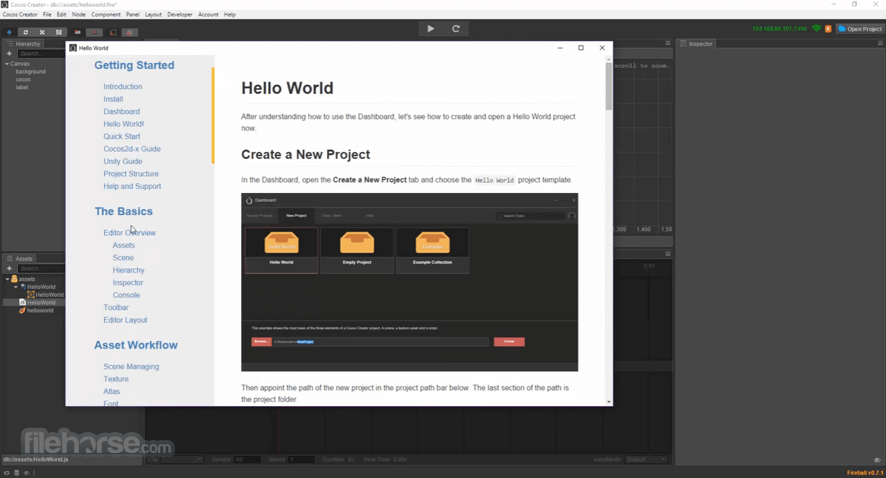 Cocos Creator 1.10.0 Screenshot 2