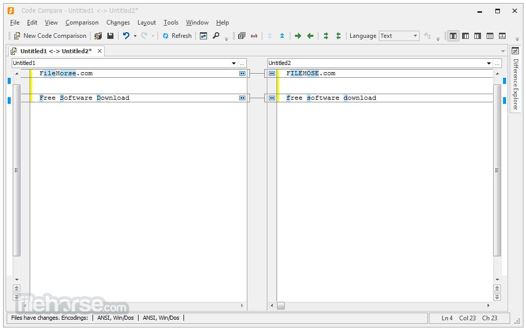 Code Compare 4.2.236 Captura de Pantalla 1