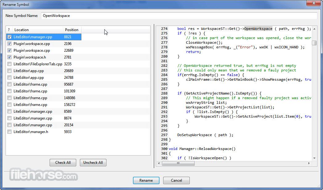 CodeLite 15.0 Screenshot 2