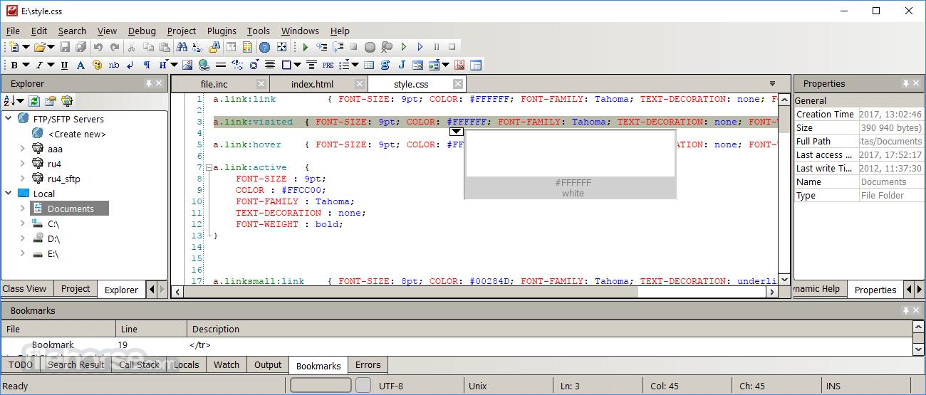 CodeLobster IDE 1.10.2 Screenshot 1