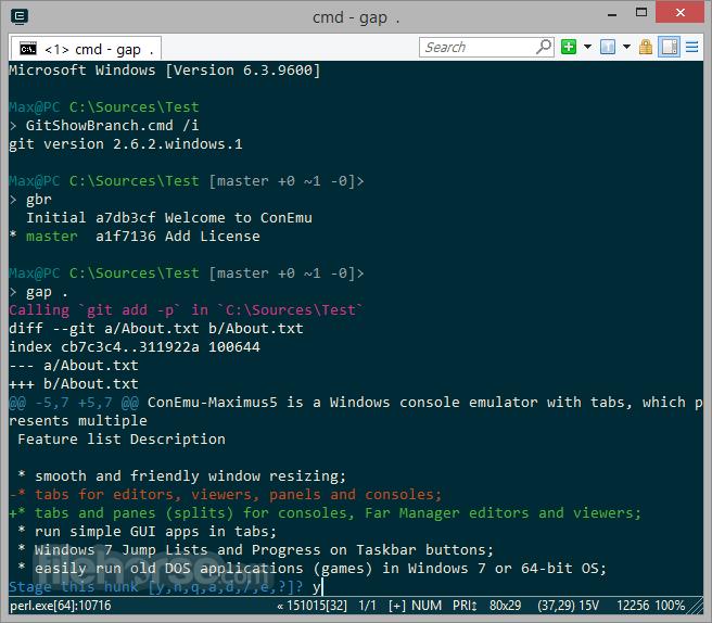 ConEmu Build 180111 Screenshot 1
