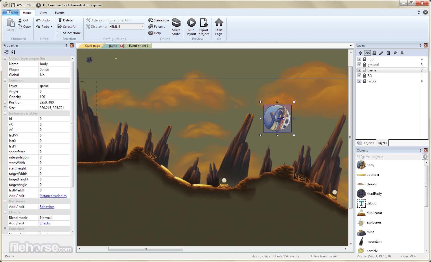 Construct 2 R279 Screenshot 2