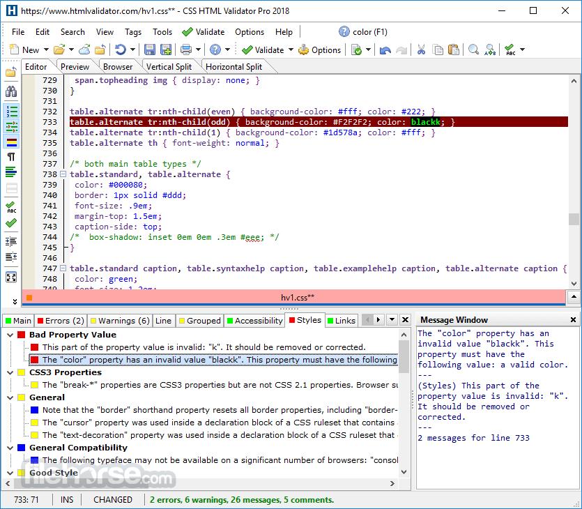 CSS HTML Validator 2020 20.0300 Captura de Pantalla 5