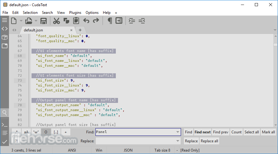 CudaText 1.140.0.0 (64-bit) Captura de Pantalla 1