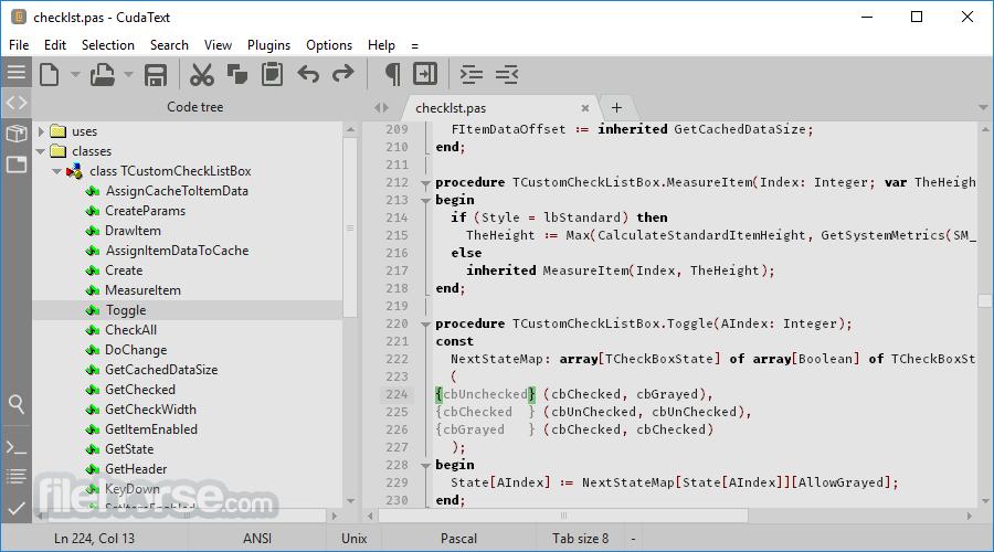 CudaText 1.140.0.0 (64-bit) Captura de Pantalla 4