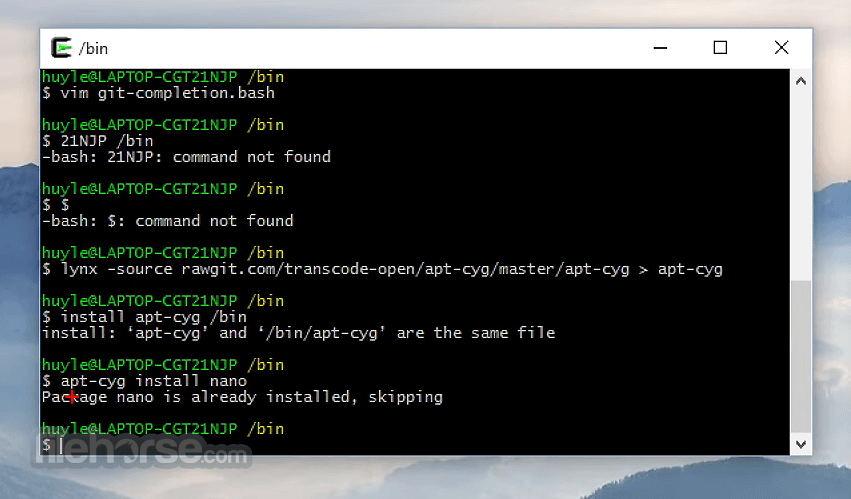 Cygwin 3.1.6 (32-bit) Screenshot 4