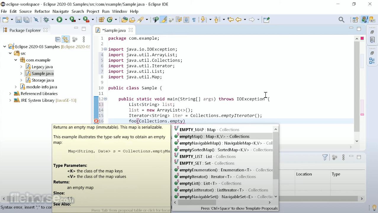 Eclipse IDE 2020-12 R Screenshot 2
