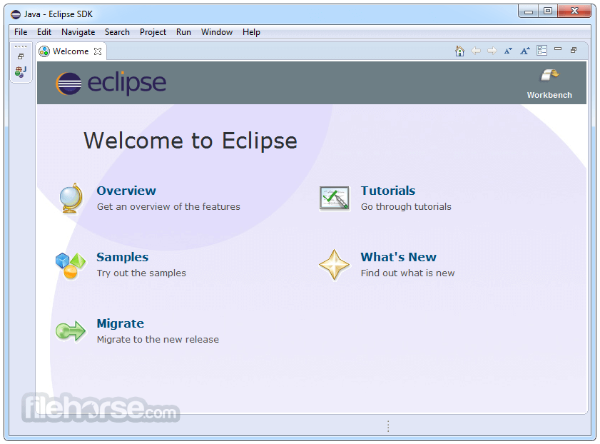 Eclipse SDK 4.6.1 (32-bit) Screenshot 1