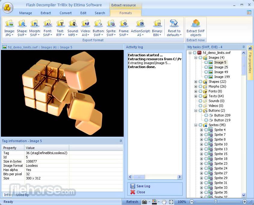 Flash Decompiler Trillix 5.3.1400 Captura de Pantalla 2