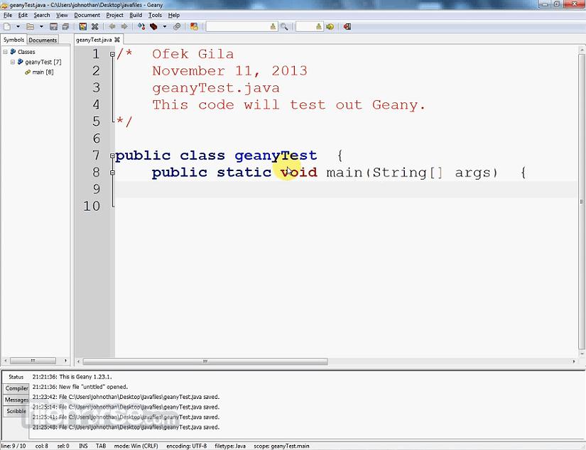 Geany 1.32 Screenshot 2