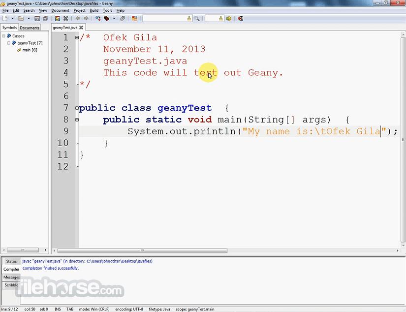 Geany 1.32 Screenshot 3