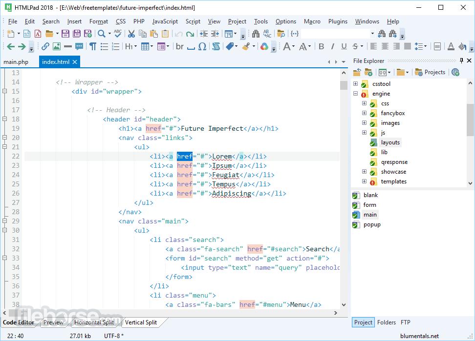 HTMLPad 2016 14.4.0.188 Captura de Pantalla 1