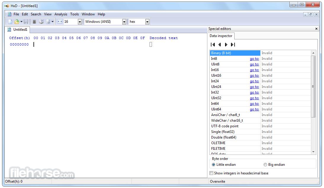 HxD Hex Editor 2.5.0 Screenshot 1