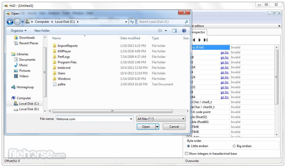 HxD Hex Editor 2.5.0 Screenshot 2