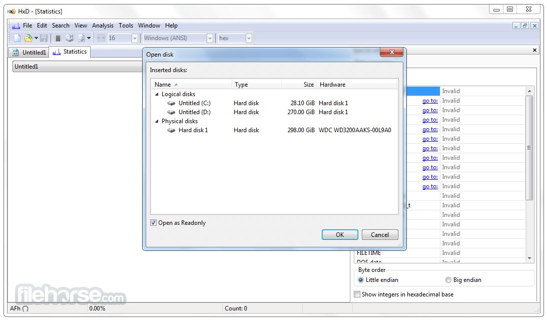 HxD Hex Editor 2.5.0 Screenshot 4
