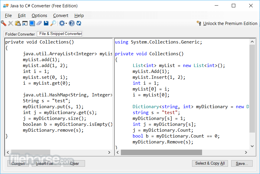 Java to C# Converter 1.0 Screenshot 2