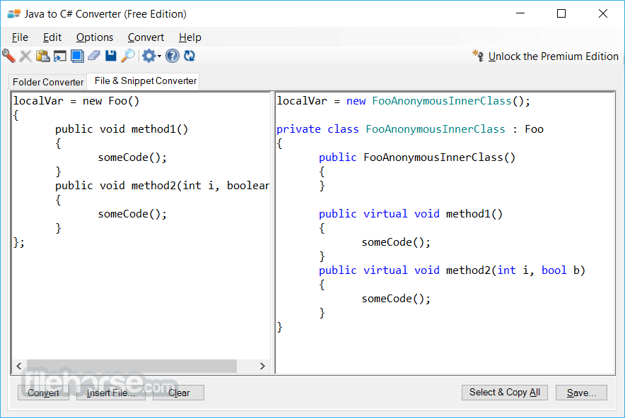 Java to C# Converter 1.0 Screenshot 3