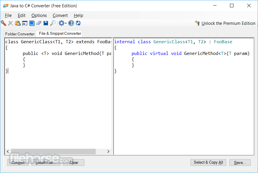 Java to C# Converter 1.0 Screenshot 4
