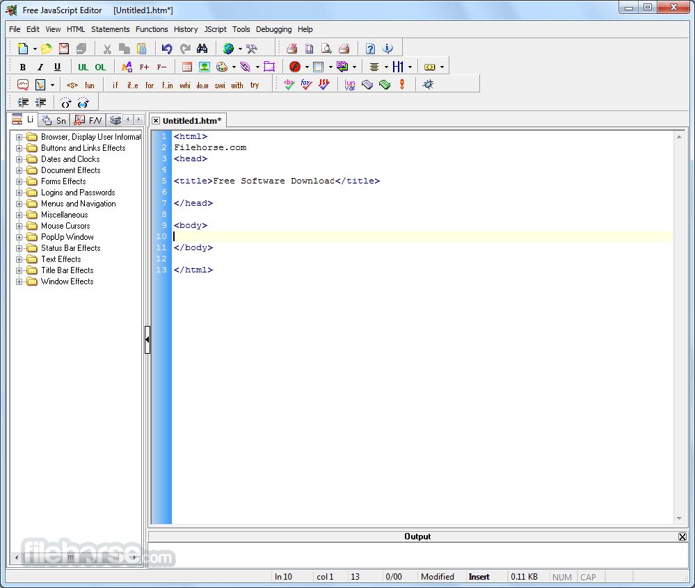 JavaScript Editor 4.7 Screenshot 1