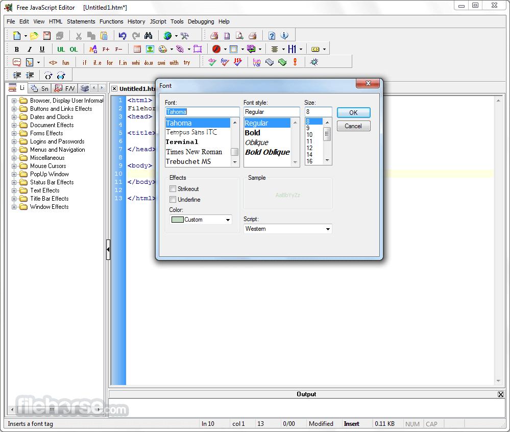 JavaScript Editor 4.7 Screenshot 2