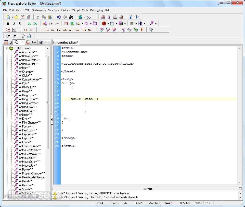 JavaScript Editor 4.7 Screenshot 3
