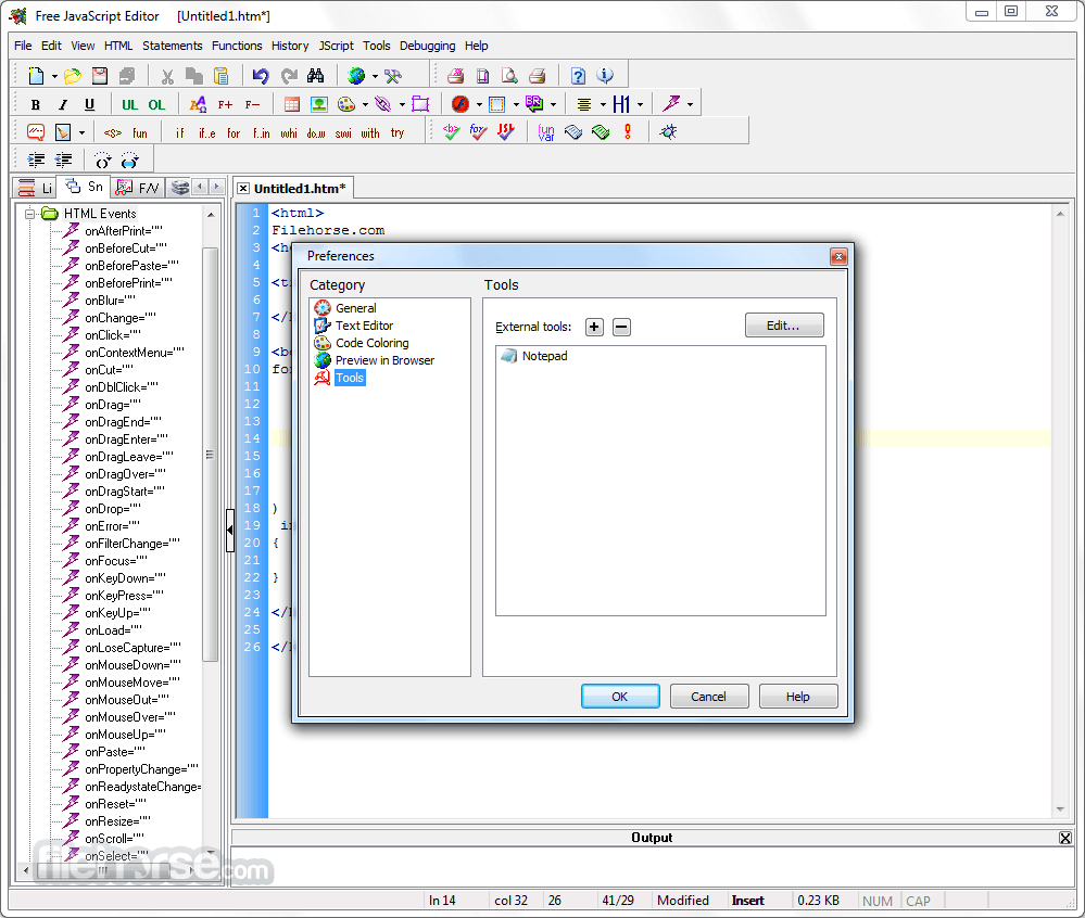 JavaScript Editor 4.7 Screenshot 4