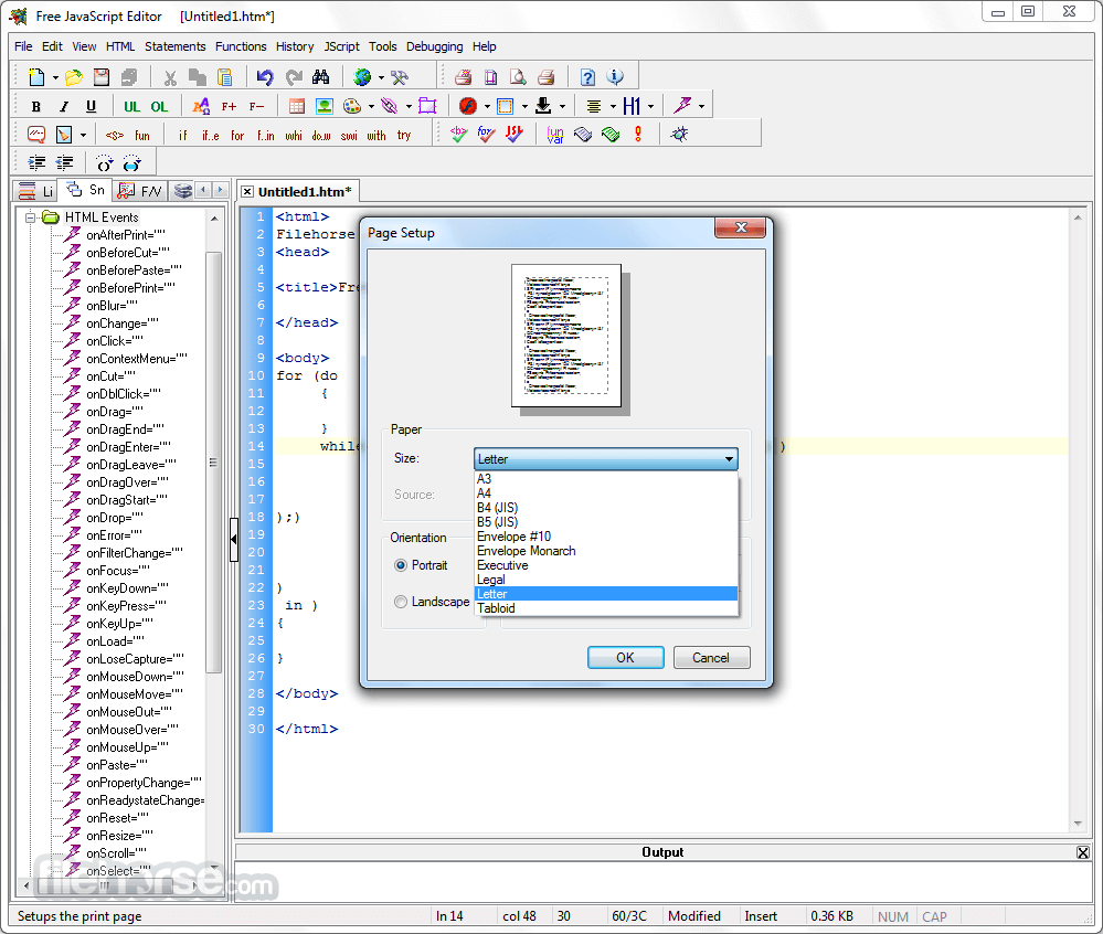 JavaScript Editor 4.7 Screenshot 5