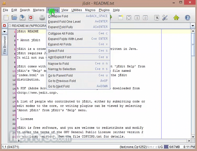 jEdit 5.4.0 Screenshot 2