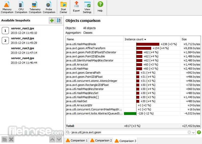 JProfiler 12.0.1 (32-bit) Captura de Pantalla 3