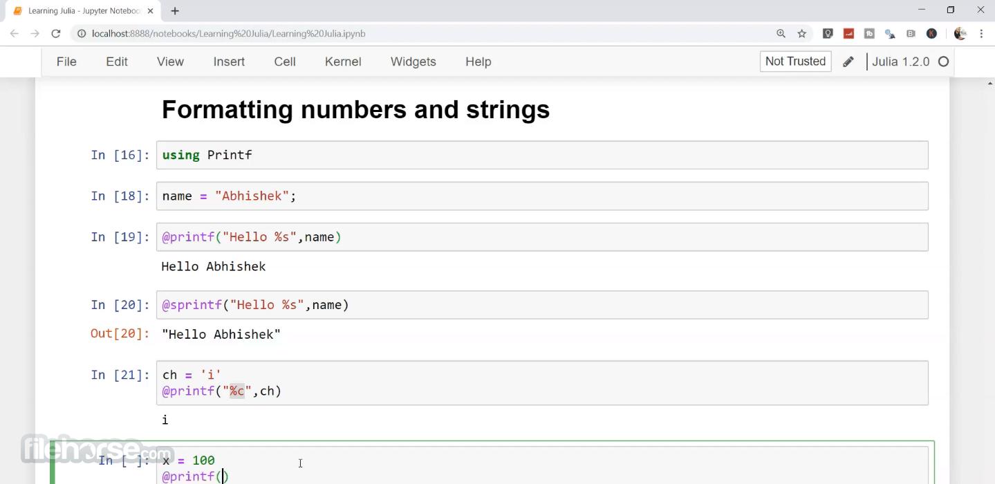 Julia Language 1.6.2 (64-bit) Screenshot 2