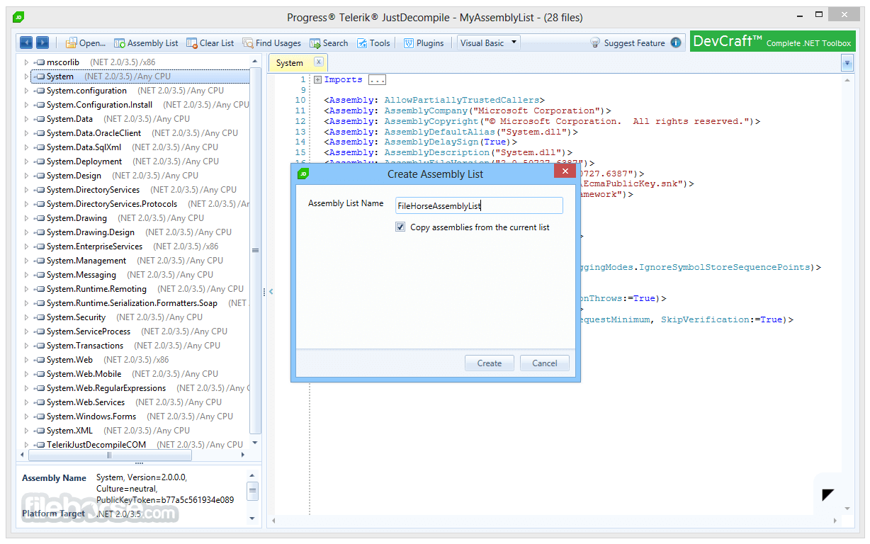 JustDecompile 2018.1.327.2 Screenshot 3
