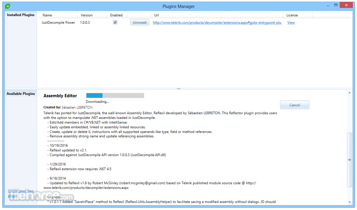 JustDecompile 2018.1.327.2 Screenshot 4