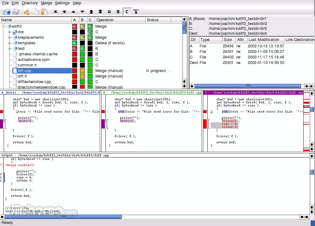 KDiff3 0.9.98 (32-bit) Screenshot 1