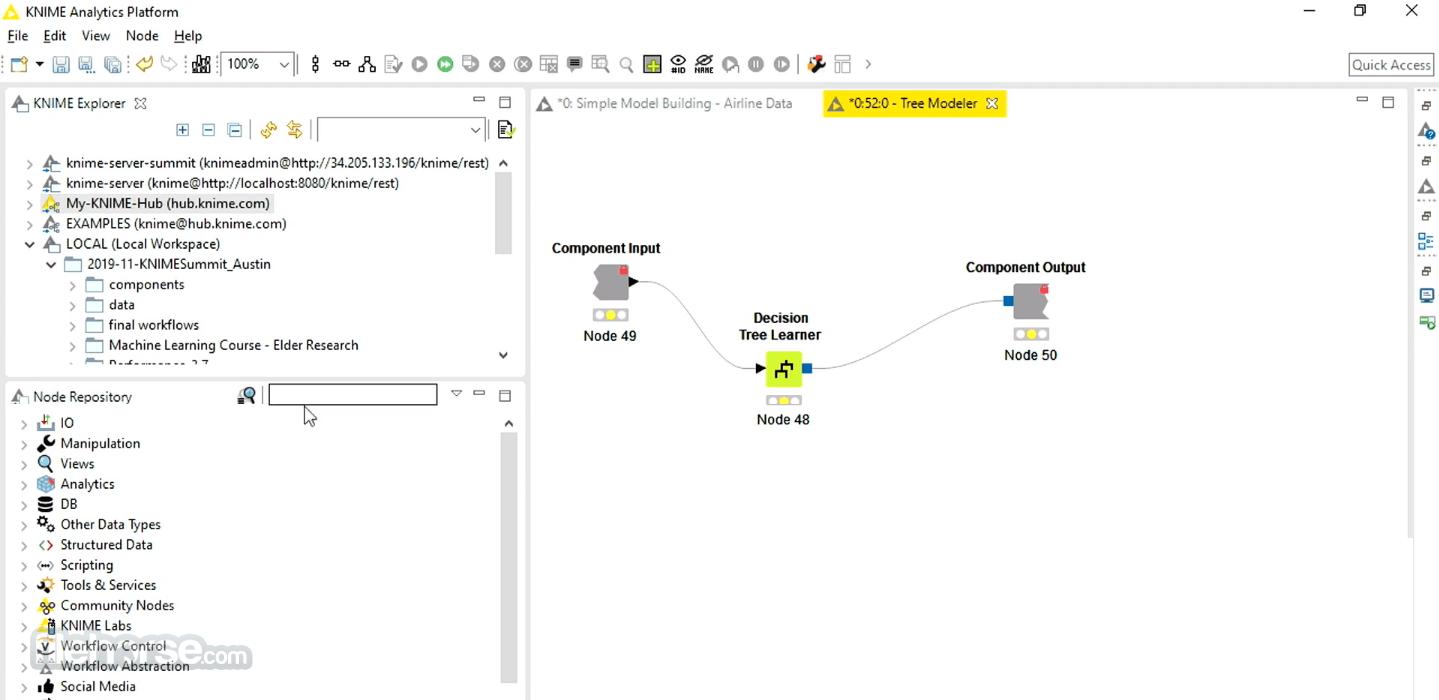 KNIME 4.1.3 (32bit) Captura de Pantalla 2