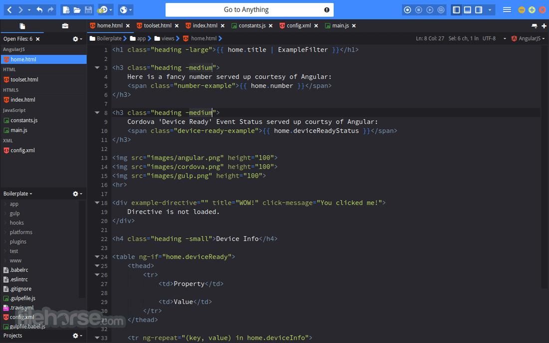 Komodo Edit 11.0.2 Build 18122 Captura de Pantalla 1
