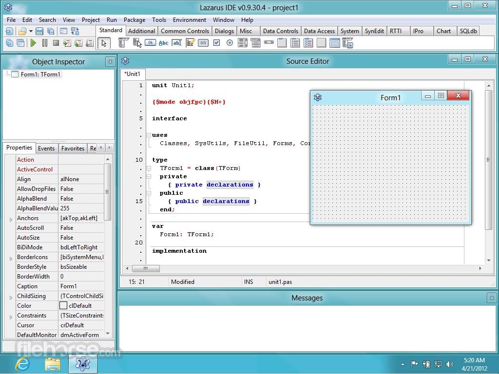 Lazarus 2.0.12 (32-bit) Captura de Pantalla 1