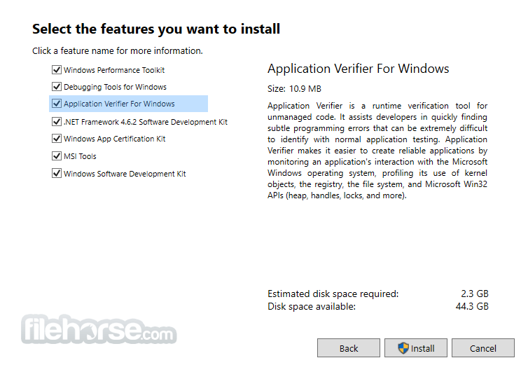 Microsoft Windows SDK 10.1.15063.468 (Windows 10) Screenshot 3
