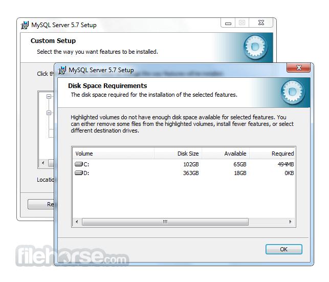 MySQL 5.7.19 (64-bit) Screenshot 4