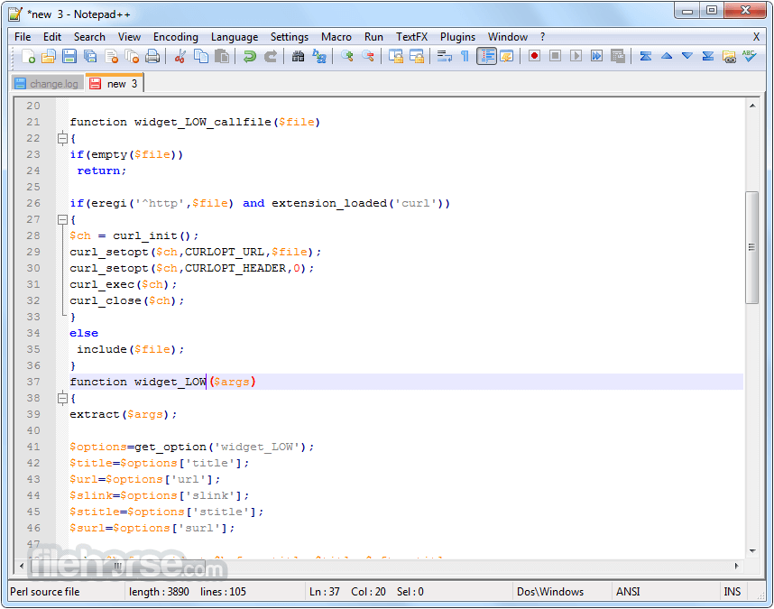 Notepad++ 7.5.2 (32-bit) Screenshot 2