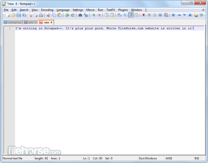 Notepad++ 7.5.2 (32-bit) Screenshot 3