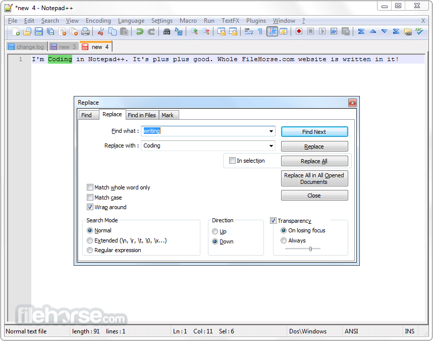 Notepad++ 7.5.2 (32-bit) Screenshot 4