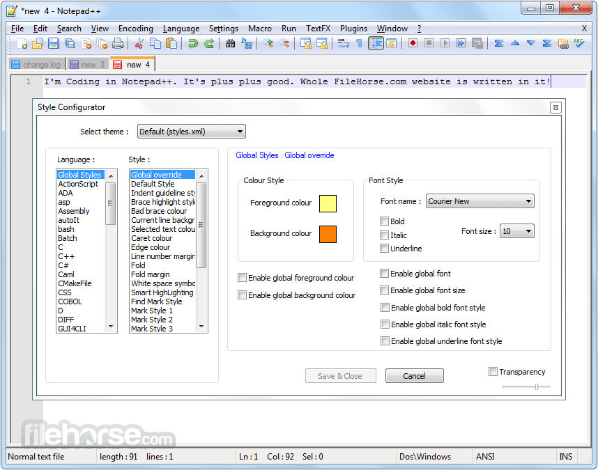 Notepad++ 7.5.8 (64-bit) Captura de Pantalla 5