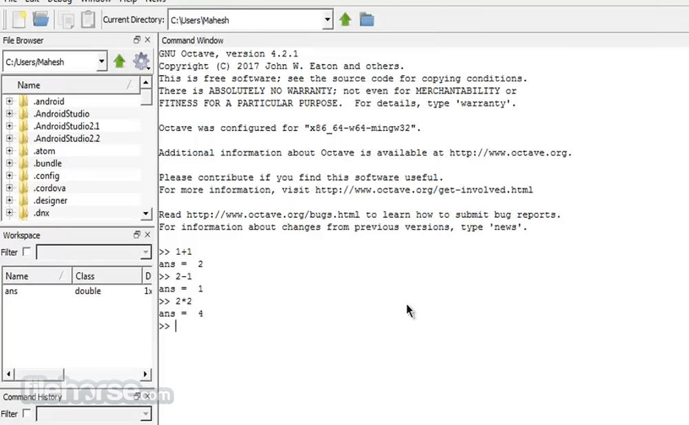 Octave 5.2.0 (32-bit) Screenshot 2
