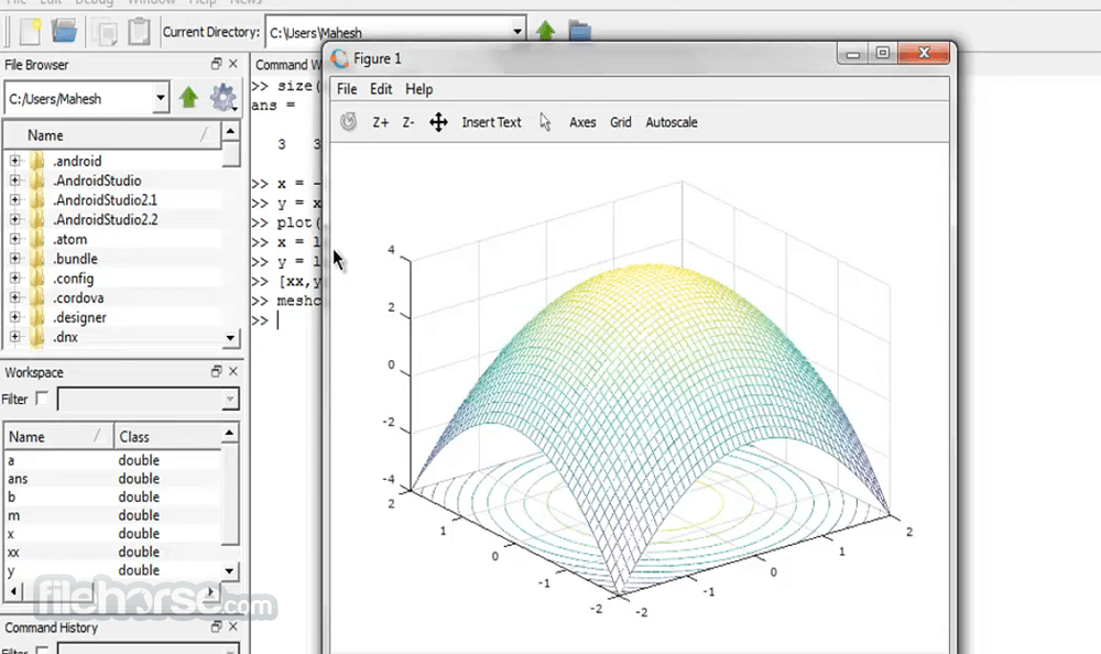 Octave 5.2.0 (32-bit) Screenshot 5