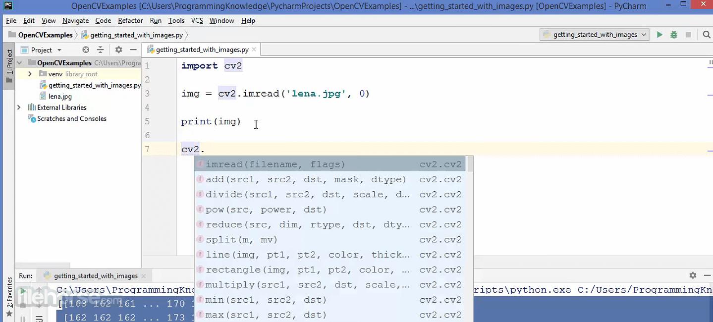 OpenCV 4.5.2 Screenshot 3