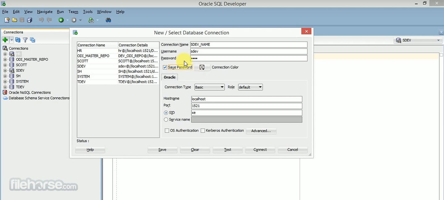 Oracle SQL Developer 20.2.0 (64-bit) Screenshot 1