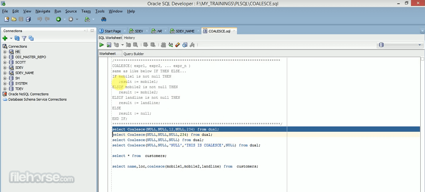 Oracle SQL Developer 20.2.0 (32-bit) Screenshot 2