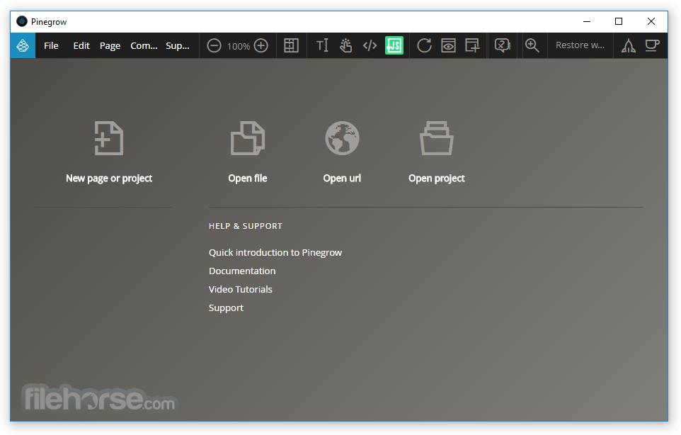 Pinegrow Web Editor 6.0 Screenshot 1